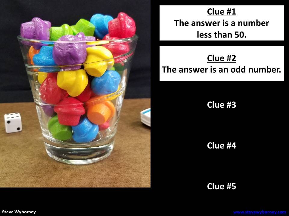Esti-mysteries: Estimation Meets Math Mysteries