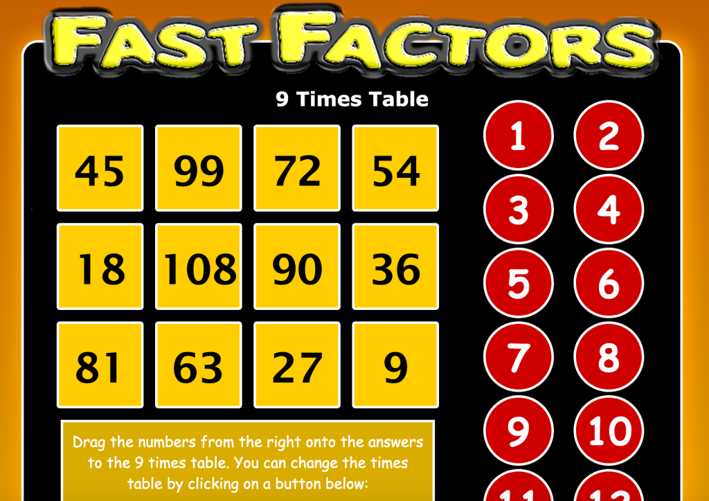 Fast Factors: multiplication practice
